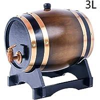 KOUJ Barril De Madera Dispensador para Vino 1.5L/3L/5L/10L/15L/20L/25L/30L