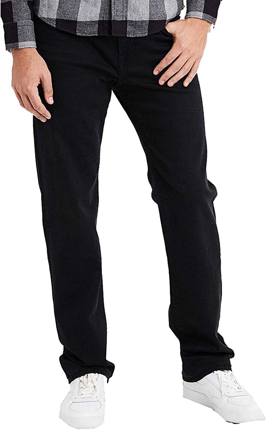 American Eagle Mens 4635081 Ne(X) t Level Relaxed Straight Jean, Black Wash (32x30)