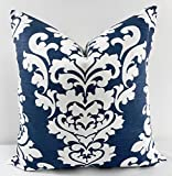 Berlin Blue & white Pillow cover. Sham cover. throw Pillow cover. Select size.