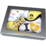 阪神タイガース グッズ トラッキー2Wロンパース・スタイ・ハンカチ・ガラガラのベビーギフトセット 【贈り物に最適】