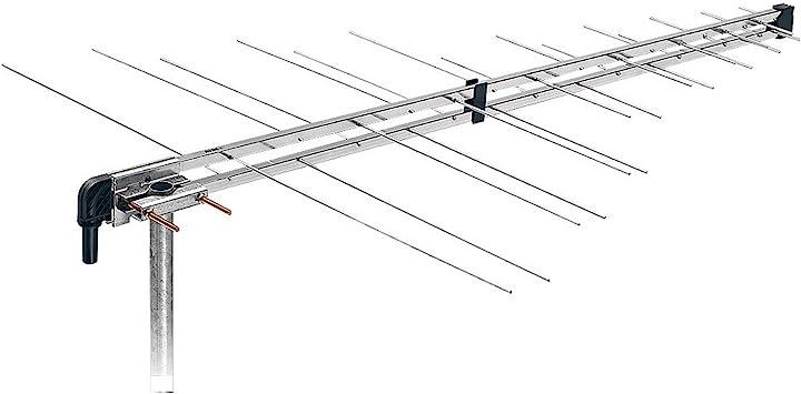 Fracarro LP345F Dual - Antena (Metálico, Dual, 11 dBi, UHF, F, 75 Ω)