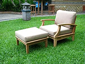 Sunbrella Fabric cushions (Seat & Back) for 1 Lounge Chair & 1 Ottoman -Cushions only-Somer Collection