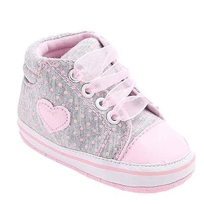 Chaussures Bébé Enfant École Secondaire Tout-Petits Rawdah Bébé Chaussures Bébé Fille Toile Chaussures Forme De Coeur Chaussures Sneaker Anti-Dérapant Doux Sole Toddler