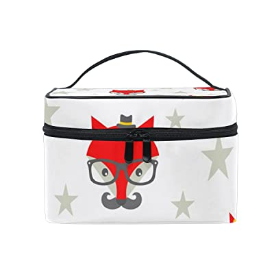 ALIREA Hipster Foxes Cosmetic Bag Travel Makeup Train Cases Storage Organizer