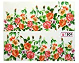 Good-looking Decoration Multi-Color Flowers Nail Art Stickers Color Code42