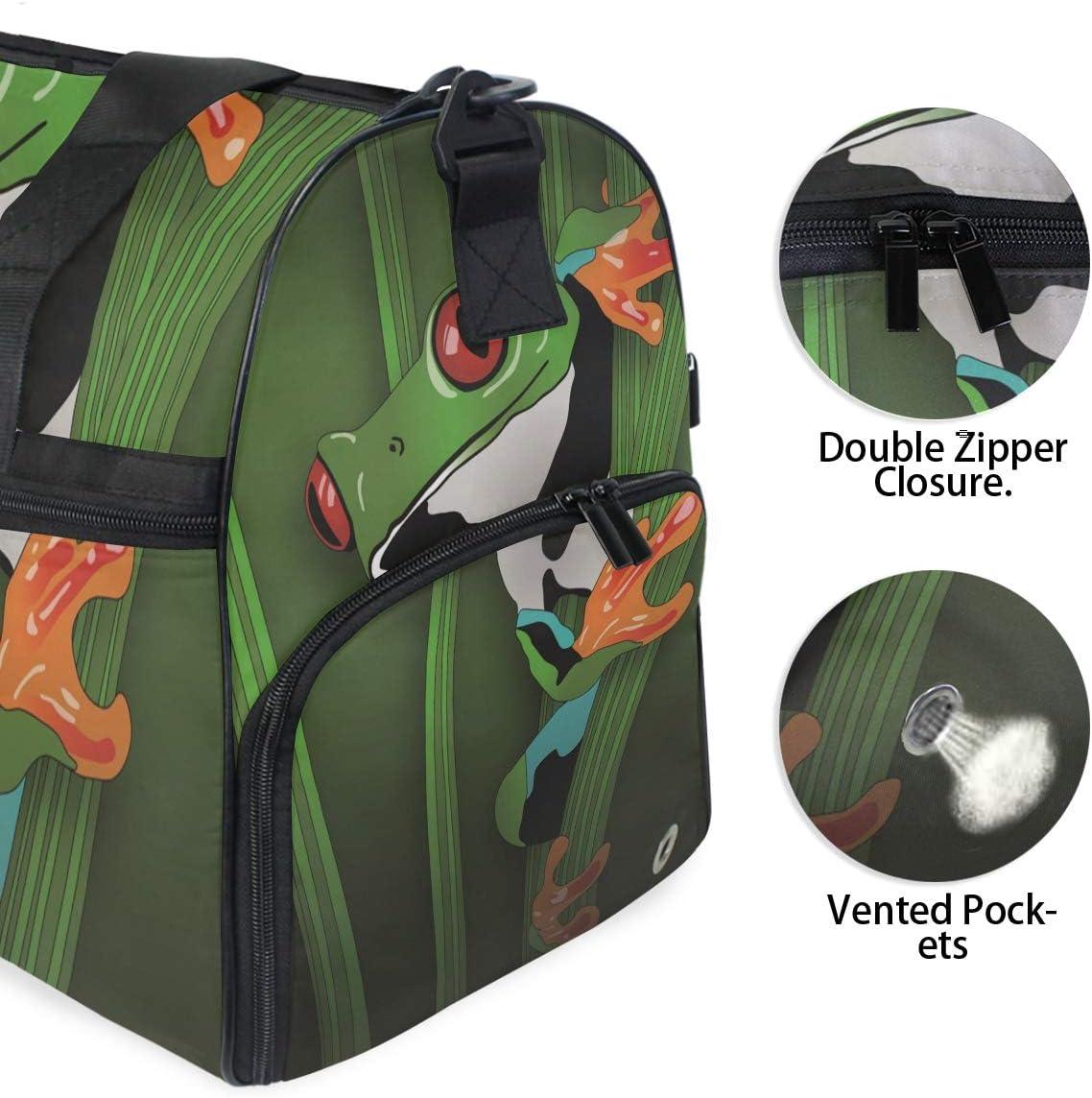 FAJRO Duffle Bag for Women Men Hiding Fog Travel Duffel Bag Large Size Water-proof Tear Resistant