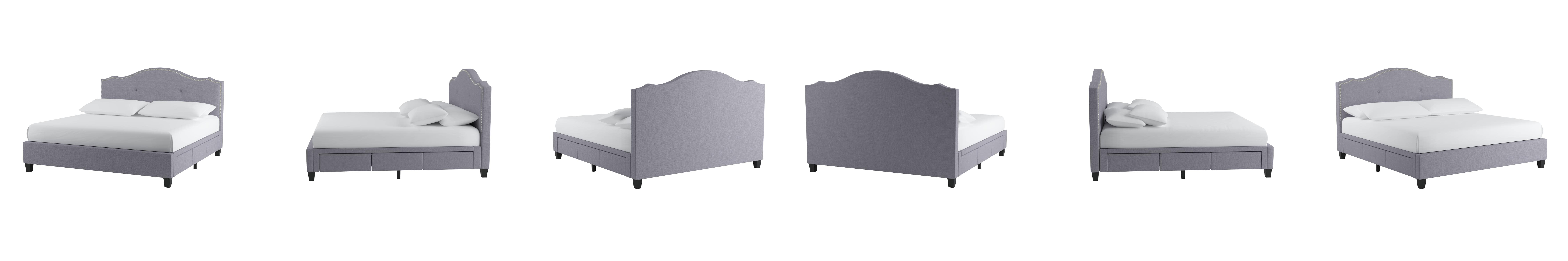 Amazoncom Baxton Studio Armeena Linen Modern Storage Bed With Upholstered