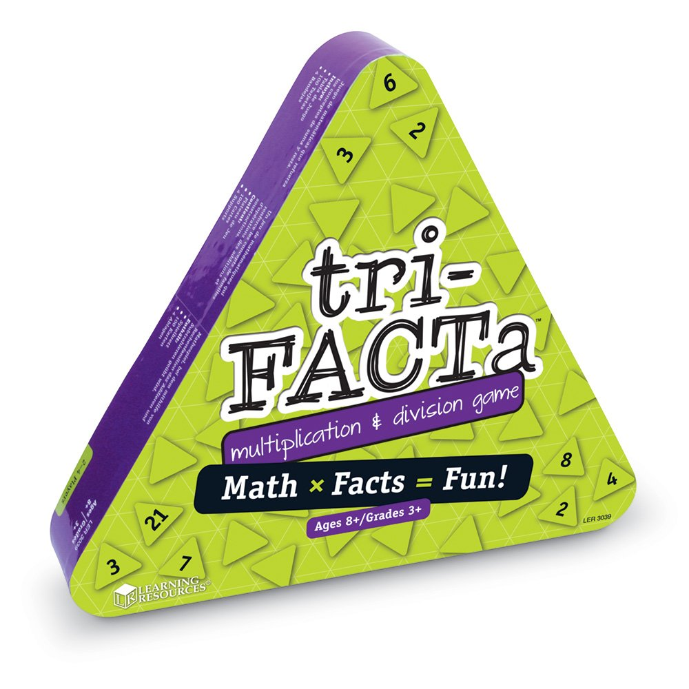 Amazon.com: Learning Resources tri-FACTa Multiplication & Division ...