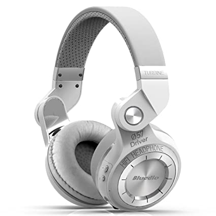 Bluedio Turbine 2 Shooting Brake T2SRCA001 - Auriculares inalámbricos Bluetooth con micrófono plegable, color blanco