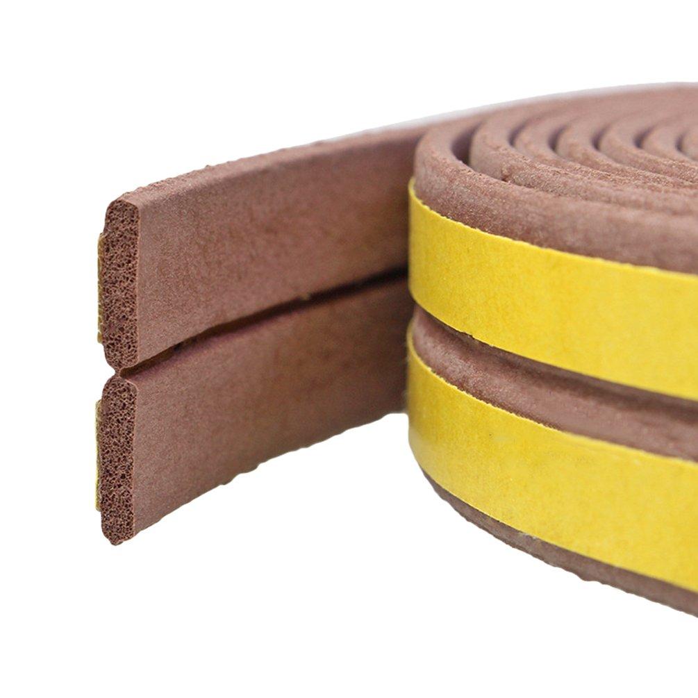 Lvguang Joint en I-Profile Adhé sif pour Isolation Thermique de Portes et Fenetres Anti Souris Cafard Marron 1000 * 9 * 2mm