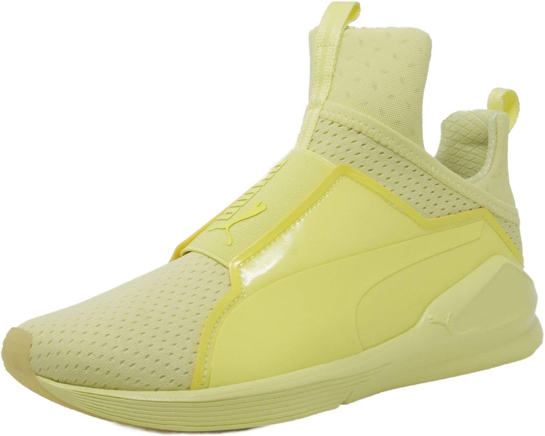PUMA Women's Fierce Bright Mesh Cross-Trainer Shoe, Elfin Yellow, 6 M US