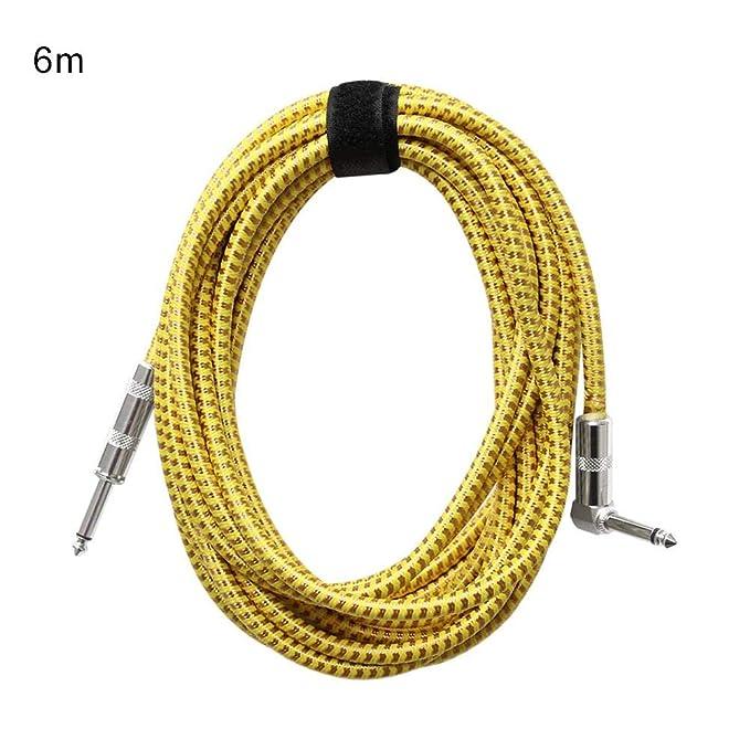 happygirr Cable para Guitarra,bajo de 3 m / 6 m para Guitarra/bajo,Calidad Profesional,sin Ruido. Cable para Escenario y Estudio, 6,35mm de Cable con ...