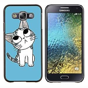 For Samsung Galaxy E5 E500 Case , Naturaleza Hermosa Forrest Verde 163- Diseño Patrón Teléfono Caso Cubierta Case Bumper Duro Protección Case Cover Funda