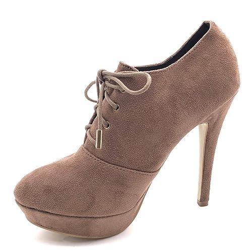nouveau pas cher Garantie de satisfaction à 100% pas cher Angkorly - Chaussure Mode Bottine Low Boots Stiletto ...