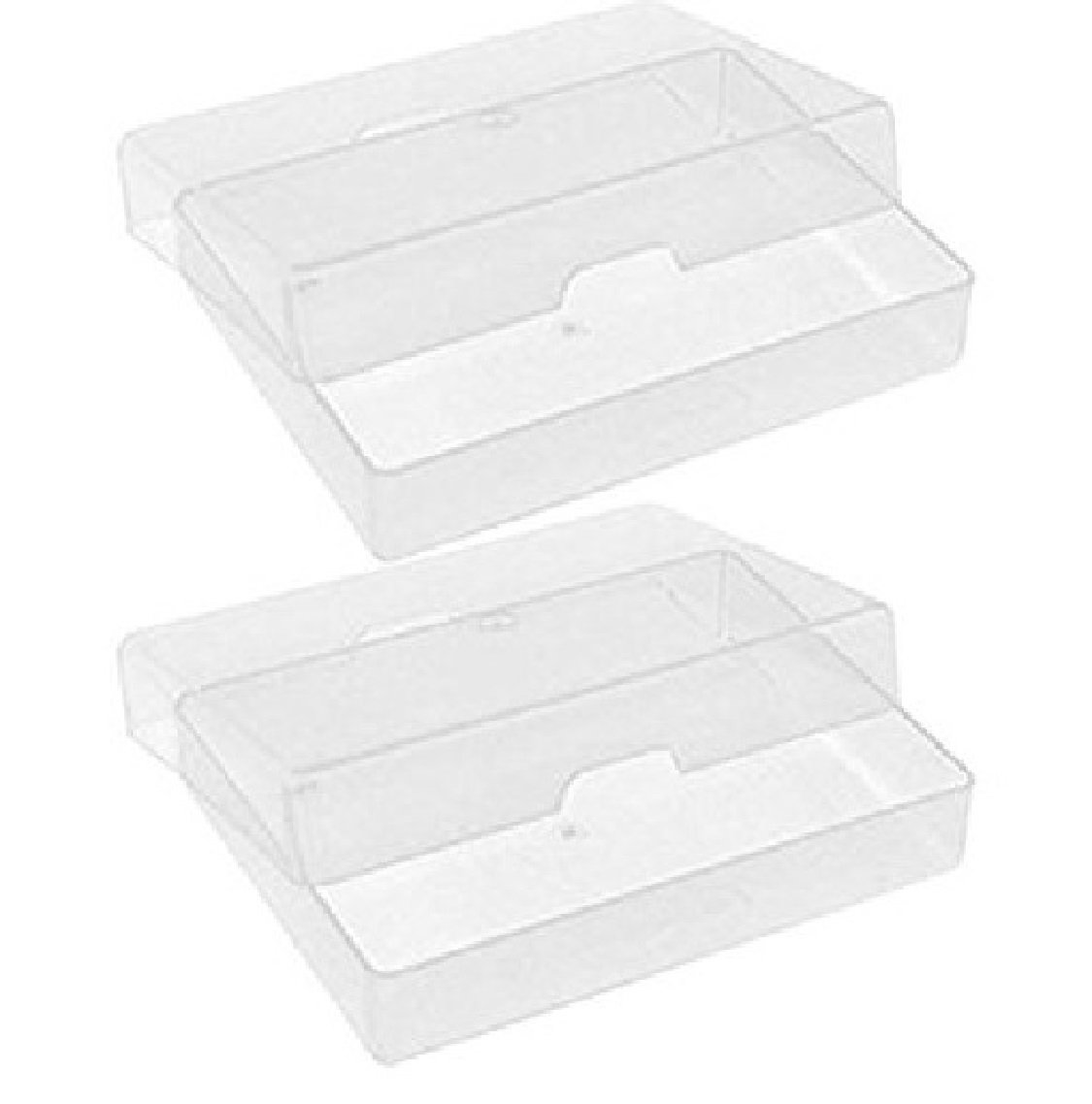 2 X NEW ATC CLEAR PLASTIC STORAGE BOX PLAYING CARDS CASE BUSINESS ...