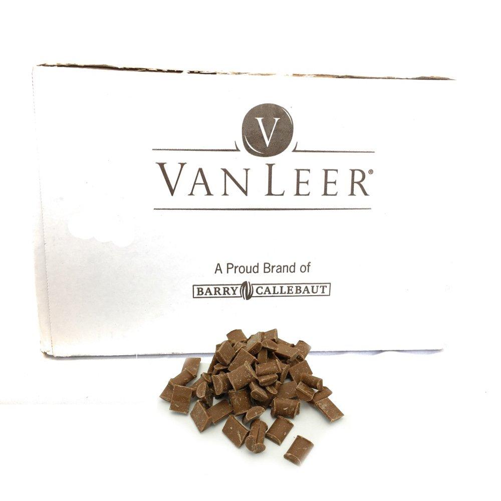 Van Leer Semi Sweet Baking Choc Chunks Breda - 50% Cocoa Van Leer - Chocolate for everyday baking needs, Kosher Certified, 30 Lbs