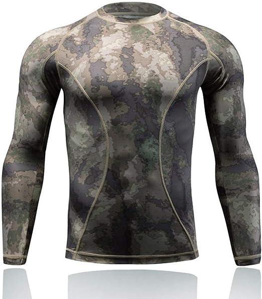 QAZW Ropa táctica Táctico Camisa Ejército Hombres Militar Camisa táctica Táctico Traje de Entrenamiento de Manga Larga de Traje de Secado rápido A-L: Amazon.es: Hogar