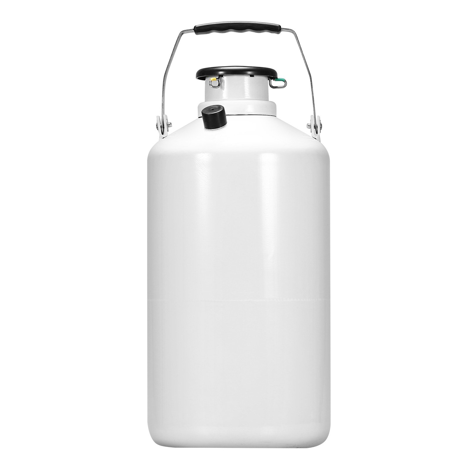 BestEquip Liquid Nitrogen Container Aluminum Alloy Liquid Nitrogen Tank Cryogenic Container with 3 Canisters and Carry Bag (3L) by BestEquip (Image #2)