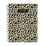 TF Publishing 19-9264A July 2018 - June 2019 Leopard Medium Weekly Monthly Planner, 6.5 x 8'', Beige & Black