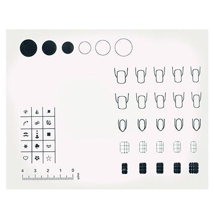 BEETEST Lavable silicona reutilizable uñas uñas de arte para ...
