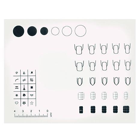 Vococal - Estera de Mesa de Silicona de Práctica del Arte de Uñas Reutilizable Lavable/