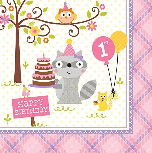 Creative Converting Birthday Napkins Woodland