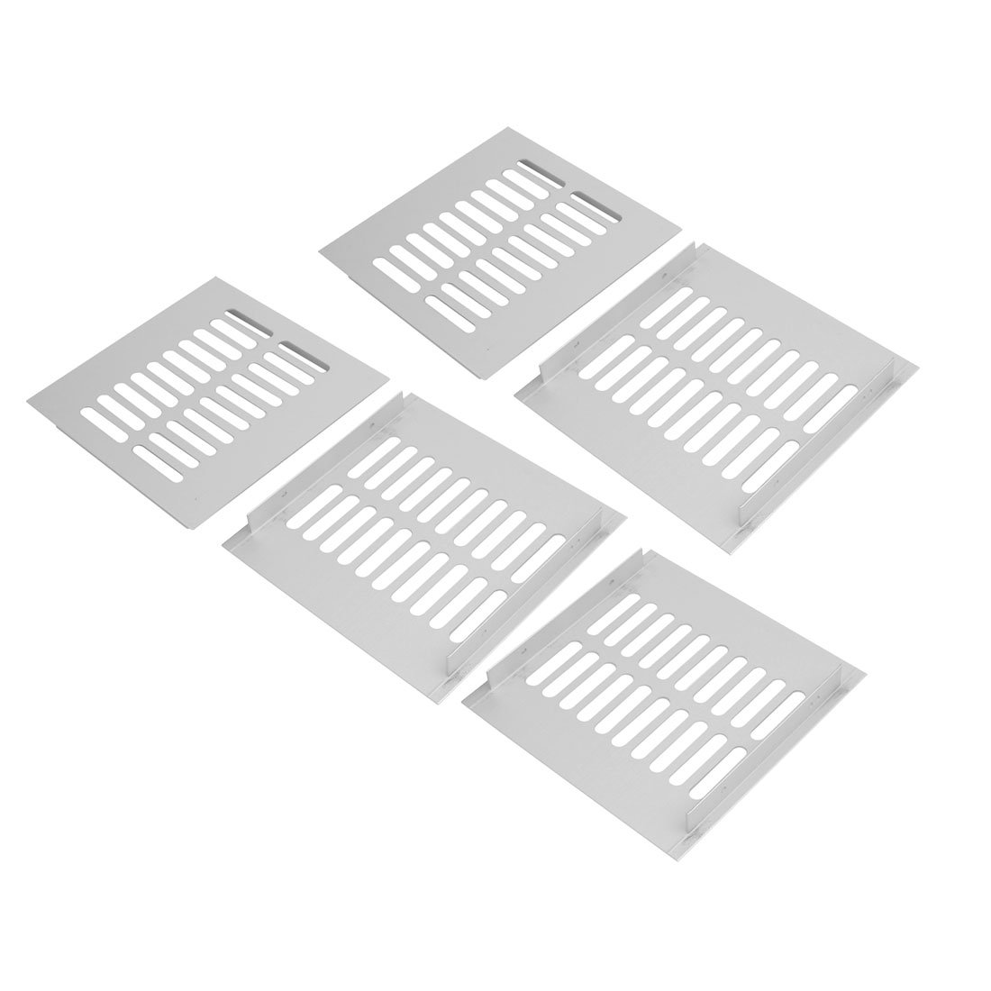 uxcell 5pcs 150mmx150mm Aluminum Alloy Air Vent Louvered Grill Cover Ventilation Grille