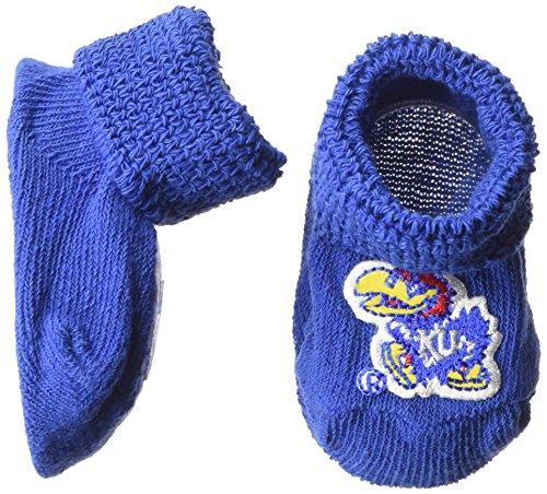 Two Feet Ahead NCAA Kansas Jayhawks Infant Gift Box Booties, One Size, Royal