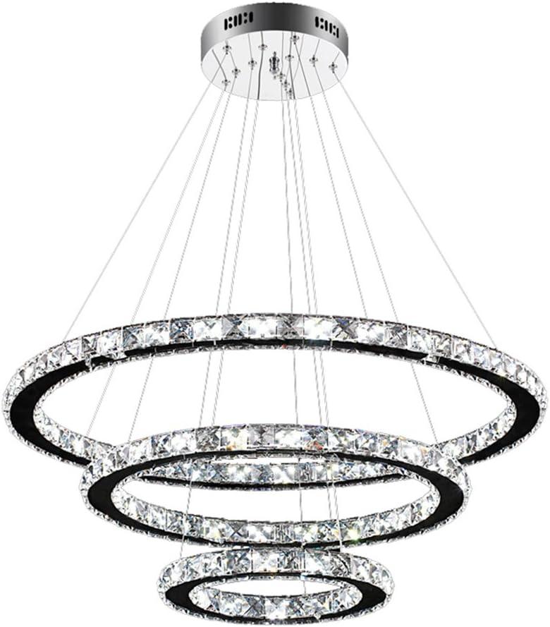 SAILUN 96W LED Kristall Design Hängelampe Drei Ringe(Φ: 30cm+50cm+70cm) Deckenlampe Pendelleuchte Kreative Kronleuchter Kaltweiß Lüster (96W Kaltweiß): Amazon.de: Beleuchtung -