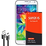 Galaxy S5 Battery, SUNZOS 3600mAh Upgraded High Capacity Replacement Battery for Samsung Galaxy S5 [I9600, G900F, G900V…