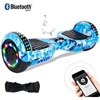 BEBK Windgoo Two Wheel Self Balancing Scooter 6.5 Inch Hoverboard with Bluetooth and LED