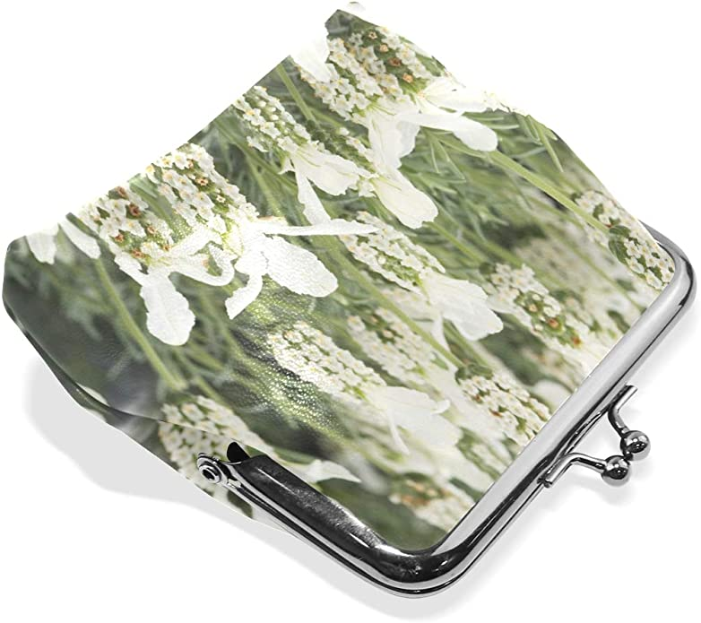 Broccoli Vegetable Pattern Canvas Change Coin Purse Retro Change Cash Bag With Zip
