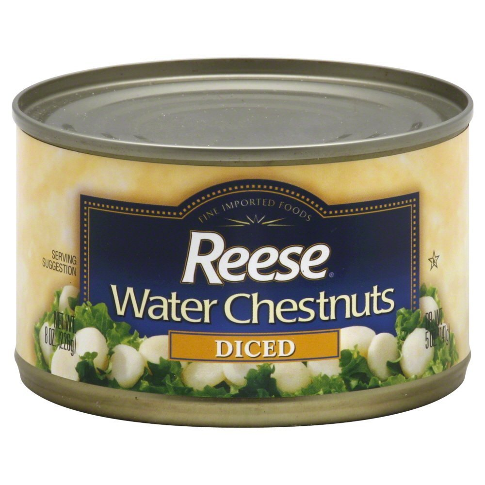 Reese Diced Water Chestnuts-8 Oz-2 Pack