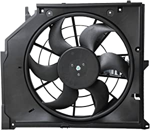 Bapmic 17117561757 Radiator Cooling Fan Assembly for BMW 3 Series E46