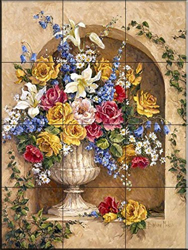 Ceramic Tile Mural - Neo Classic Alcove I- by Barbara Mock - Kitchen backsplash/Bathroom Shower