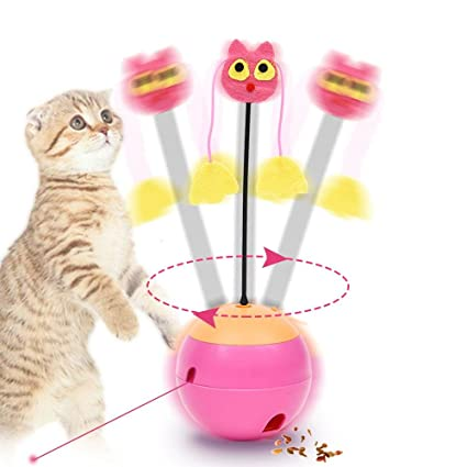 FOONEE Juguetes interactivos para Gatos, 3 en 1, Multifunción, Giratorio, Eléctrico,