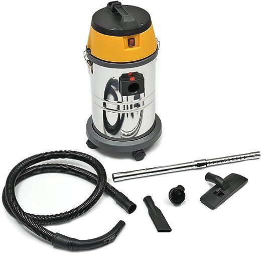 XJLLOVEl Aspirador Mojado Y Seco, Seco Y Húmedo por Vacío Vac Cleaner Industrial 30L litros 1500W: Amazon.es: Hogar