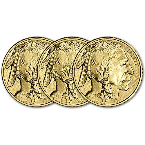 2018 American Gold Buffalo (1 oz) Three Coins Brilliant - Indian Gold Set Coin