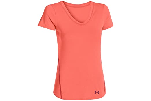 Under Armour UA Iso-Chill Remi SS Top - Women's After Burn / Aubergine Small
