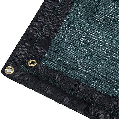 DIR Heavy 90% UV Shade Cloth Green Premium Mesh Shadecloth Sunblock Shade Panel with Grommets - 12ft x 12ft