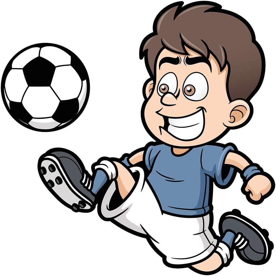 Pegatina de pared cuarto de los niños Jugadores de fútbol para niños pequeños de fútbol pegatina de juego de pelota motivo de fútbol fútbol: Amazon.es: Bricolaje y herramientas