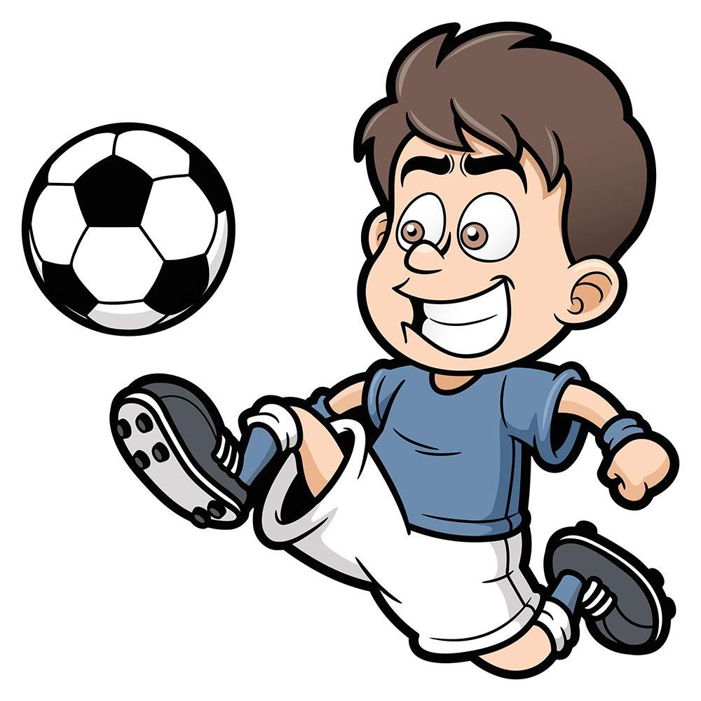I-love-Wandtattoo WAS-10982 Babyzimmer Wandsticker Fußballspieler für Kleinkinder Fußballer zum Kleben Wandtattoo Fußball Wandaufkleber Ballspiel Sticker Fußballmotiv Wanddeko Soccer