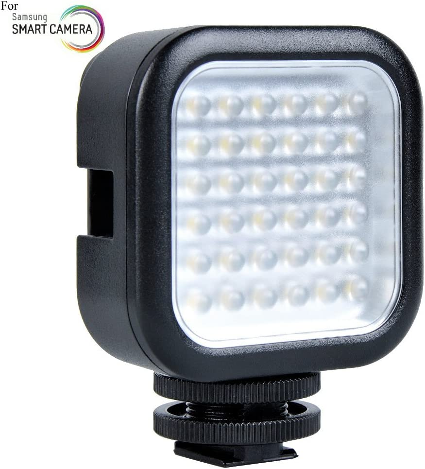 NX2000 NX200 NX210 Powerful 36 LED Array Shoe Mount Adjustable LED Video Light for Samsung NX20 EX1 Cameras: Stackable LED Light Panel NX30 NX5 NX300 NX500 NX300M NX3000 Pro815 TL500