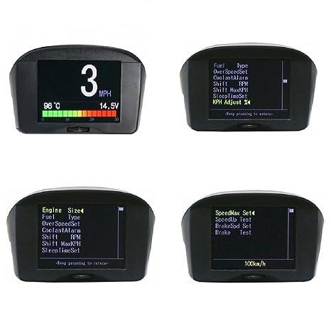 Autool X50 PLUS Multifunción OBD Smart Digital Meter & Alarm Falla Código Medidor de temperatura de
