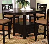 Metropolis Counter Height Dining Kitchen Table in Espresso Finish by Furniture of America