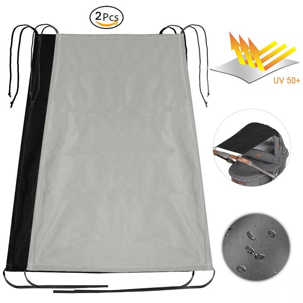 Sombra de sol universal de la cortina del sol para el cochecito de niño o el cochecito con la protección ULTRAVIOLETA impermeable (2pcs) (1pcs) Fun Sponsor