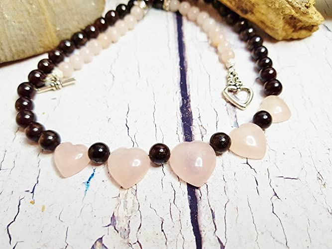 Rose Quartz Crystal Necklace Personalized Bridesmaid Gift Wedding Statement Necklace Valentine Day Gift For Her Dainty