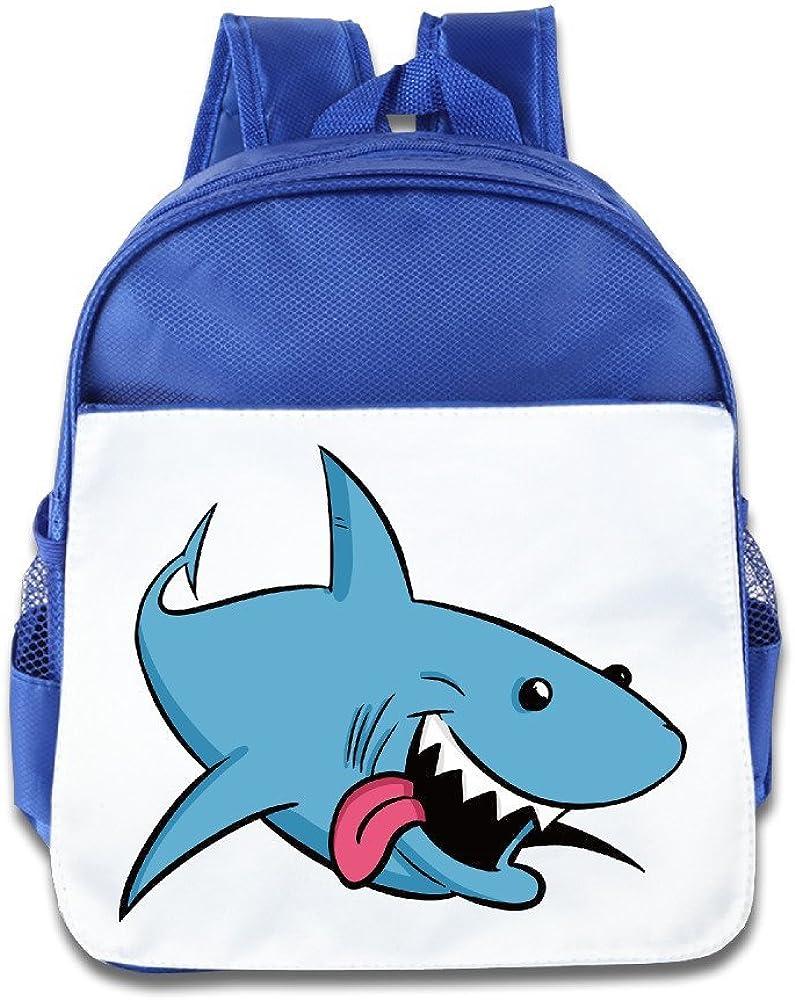 NATY Cartoon Sharks School Backpacks With RoyalBlue For Youth