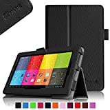 "Fintie ProntoTec 7"" Android 4.4 KitKat Tablet PC / ProntoTec Q8 / ProntoTec Axius Series Pro 7 / ProntoTec Axius Series Q9 / Q9S 7 Inch Android 4.4 Tablet PC Folio Case - Premium PU Leather Stand Cover with Stylus Loop, Black"