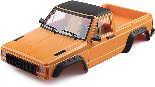 INJORA RC Carrocería Kit 313mm Distancia Entre Ejes Corpo Cuerpo Pickup Truck Car Shell para 1/10 RC Crawler Axial SCX10 SCX10 II 90046 90047 ...